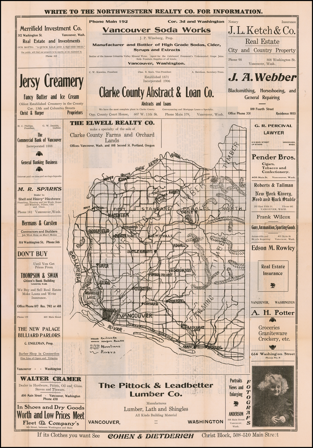 [Map of Clarke County Washington] By Anonymous
