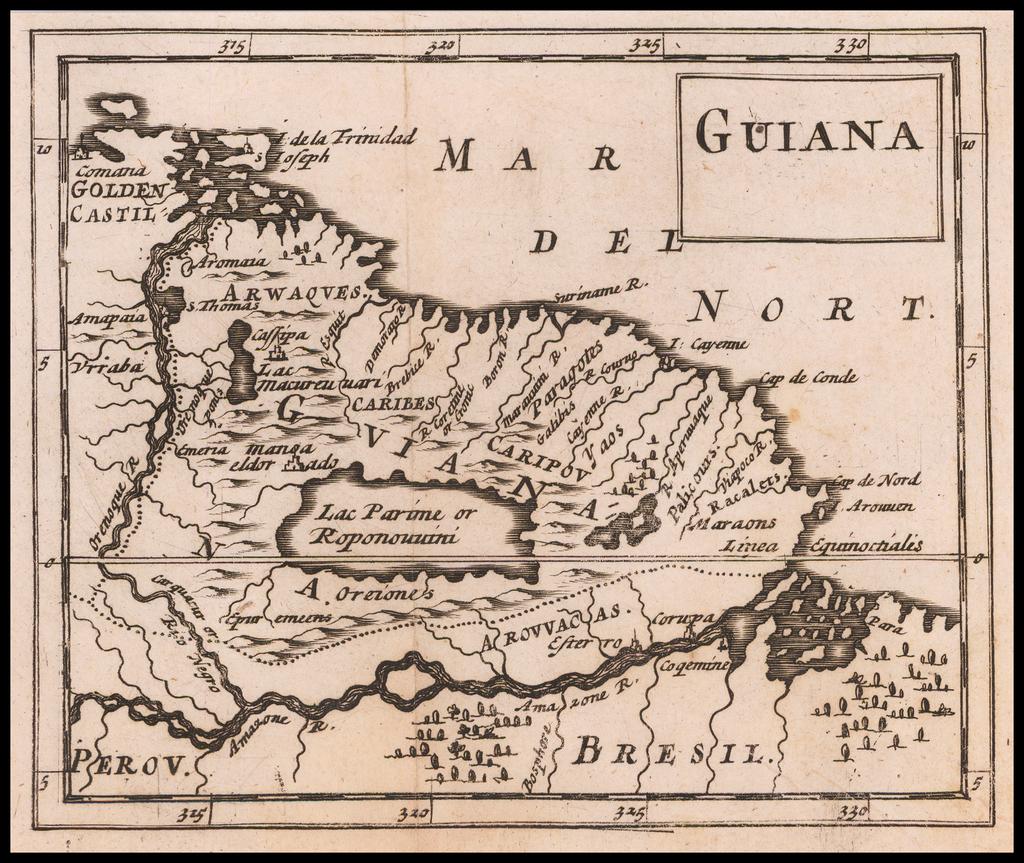 Guiana (El Dorado) By Sir Jonas Moore