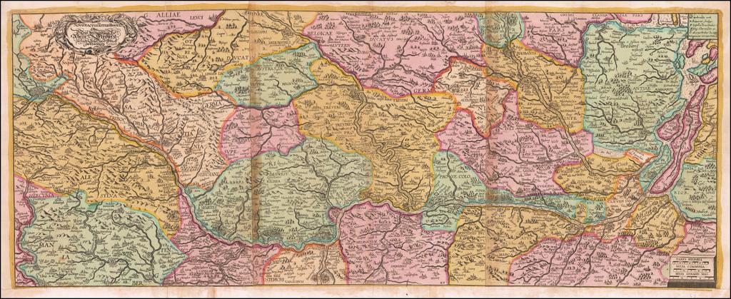 [Course of the Rhine River]  Nova Tractus Totius Rheni Oder Neue beschreibung des Rhein-Strom By David Funcke