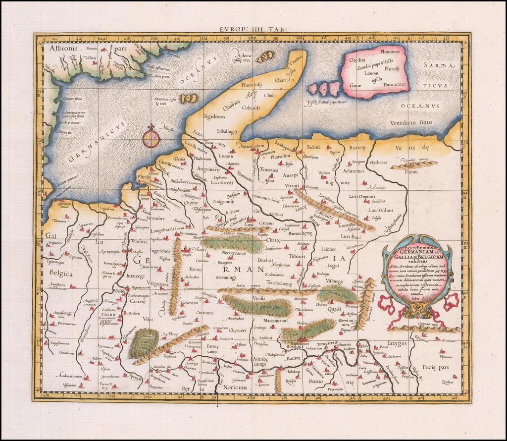 Tab. IV Europae Germaniam et Galliam Belgicam Exhibens By  Gerard Mercator