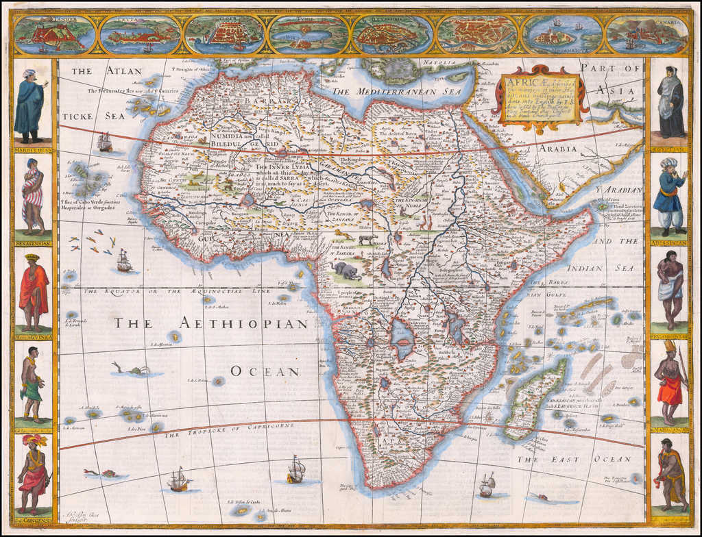 Africae, Described.  The manners of their Habits and buildings newly done into English by I.S…. By John Speed