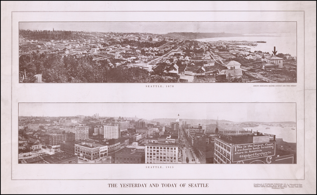 The Yesterday and Today of Seattle (Celebrating 25th Anniversary of Standard Furniture Company) By Standard Furniture Company