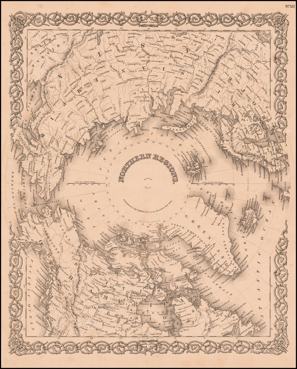 Northern Regions By Joseph Hutchins Colton