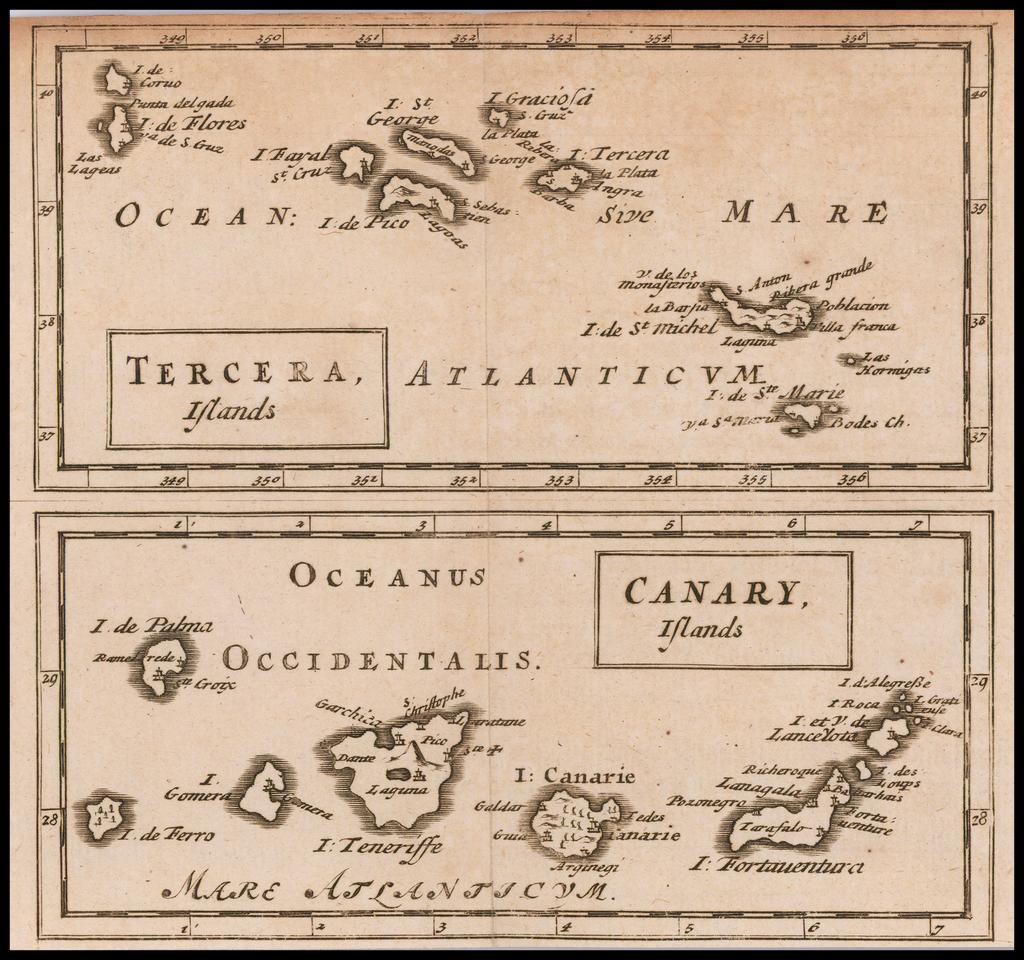 Tercera Islands (and) Canary Islands By Sir Jonas Moore