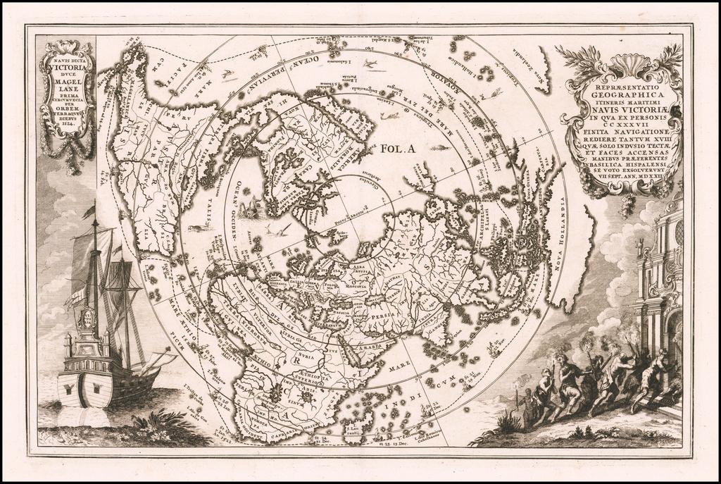 Repraesentatio Geographica Itineris Maritimi Navi Victoriae In Qua Ex Personis CCXXXVII Finita Navigatione… MDXXII By Heinrich Scherer