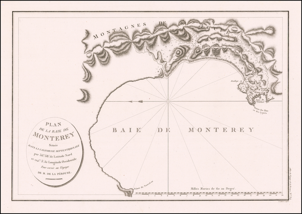 Plan De La Baie De Monterey Situee Dans La Californie Septentrionale . . .  By Jean Francois Galaup de La Perouse