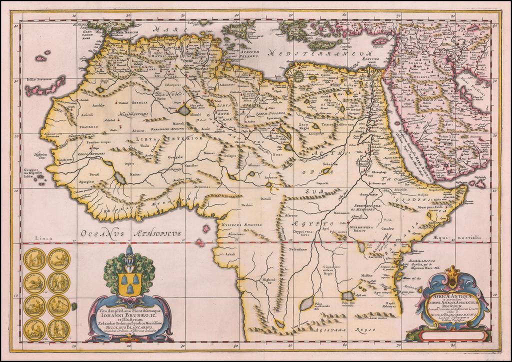 Africae Antiquae et quarundam Europae Asiaque Adiacentium Regionum . . .  By Nicholaus Blankaart