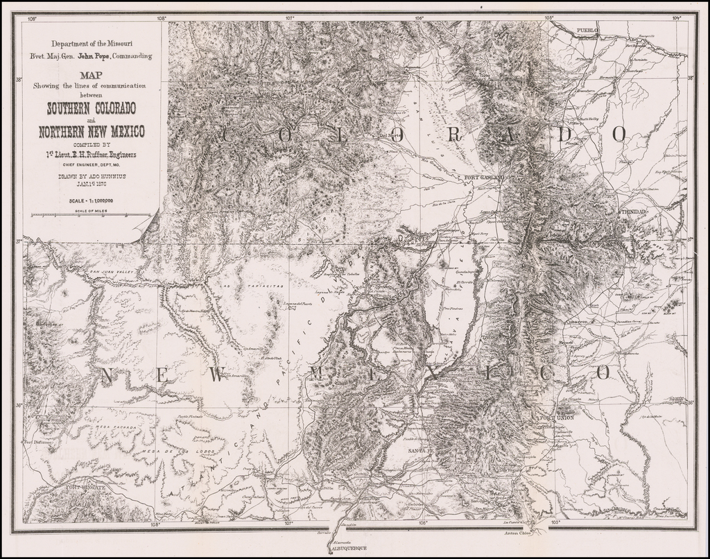 Map Showing the lines of Communication between Southern ...