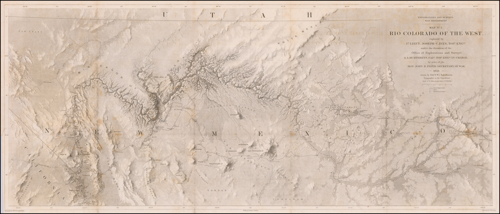 Map No. 2. Rio Colorado of the West explored by 1st. Lieut. Joseph C. Ives, Topl. Engr . . .  By Joseph C. Ives
