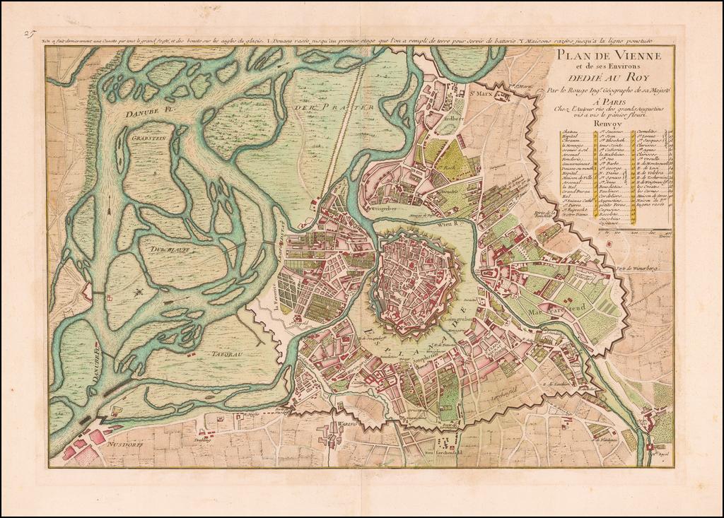 Plan de Vienne et de ses Environs Dedie au Roy . . .  By George Louis Le Rouge