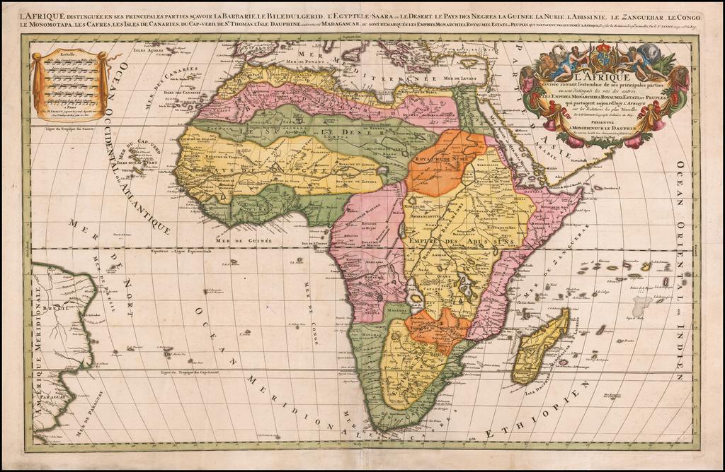 L'Afrique Divisee suivant l'estendue des ses principales parties . . . By Alexis-Hubert Jaillot