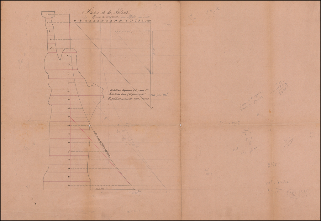 [Gustave Eiffel's Drawings and Blueprints for the Statue of Liberty] By Gustave Eiffel