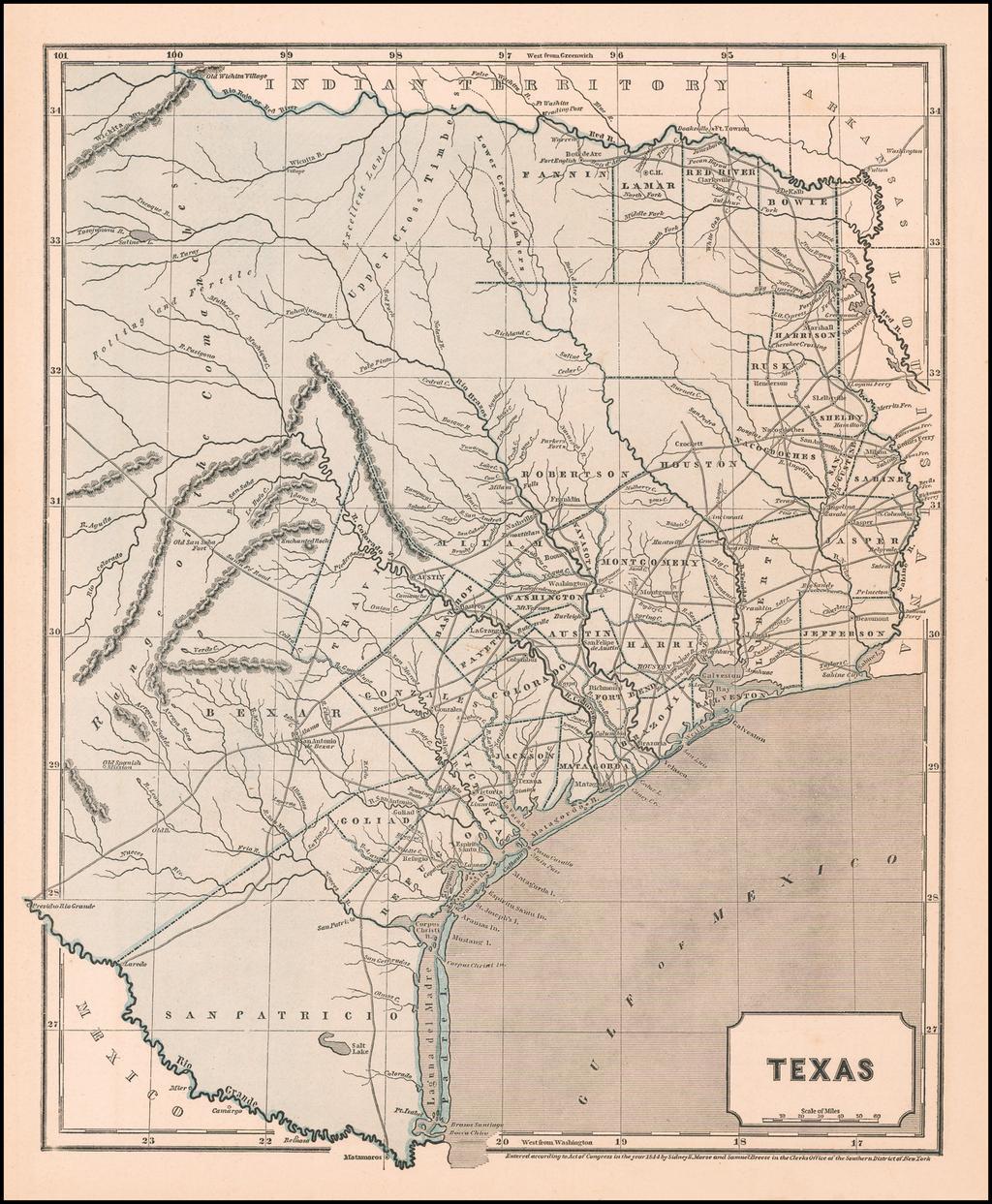 Texas (Republic of Texas!) By Sidney Morse  &  Samuel Breese