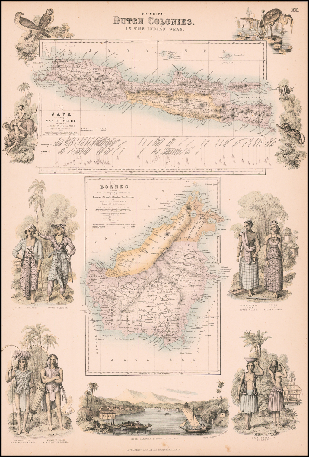 Principal Dutch Colonies in the Indian Seas (Java and Borneo) By Archibald Fullarton & Co.