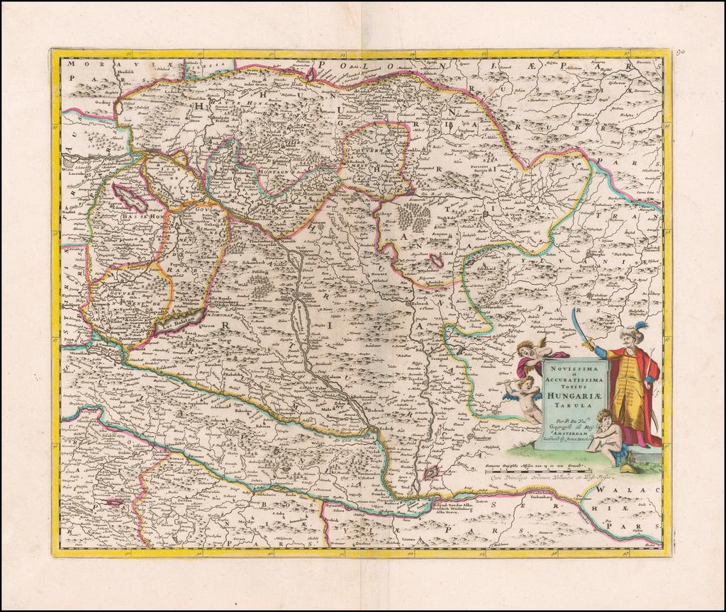 Novissima et Accuratissima Totius Hungariae Tabula Par P. Du Val . . . . By Justus Danckerts
