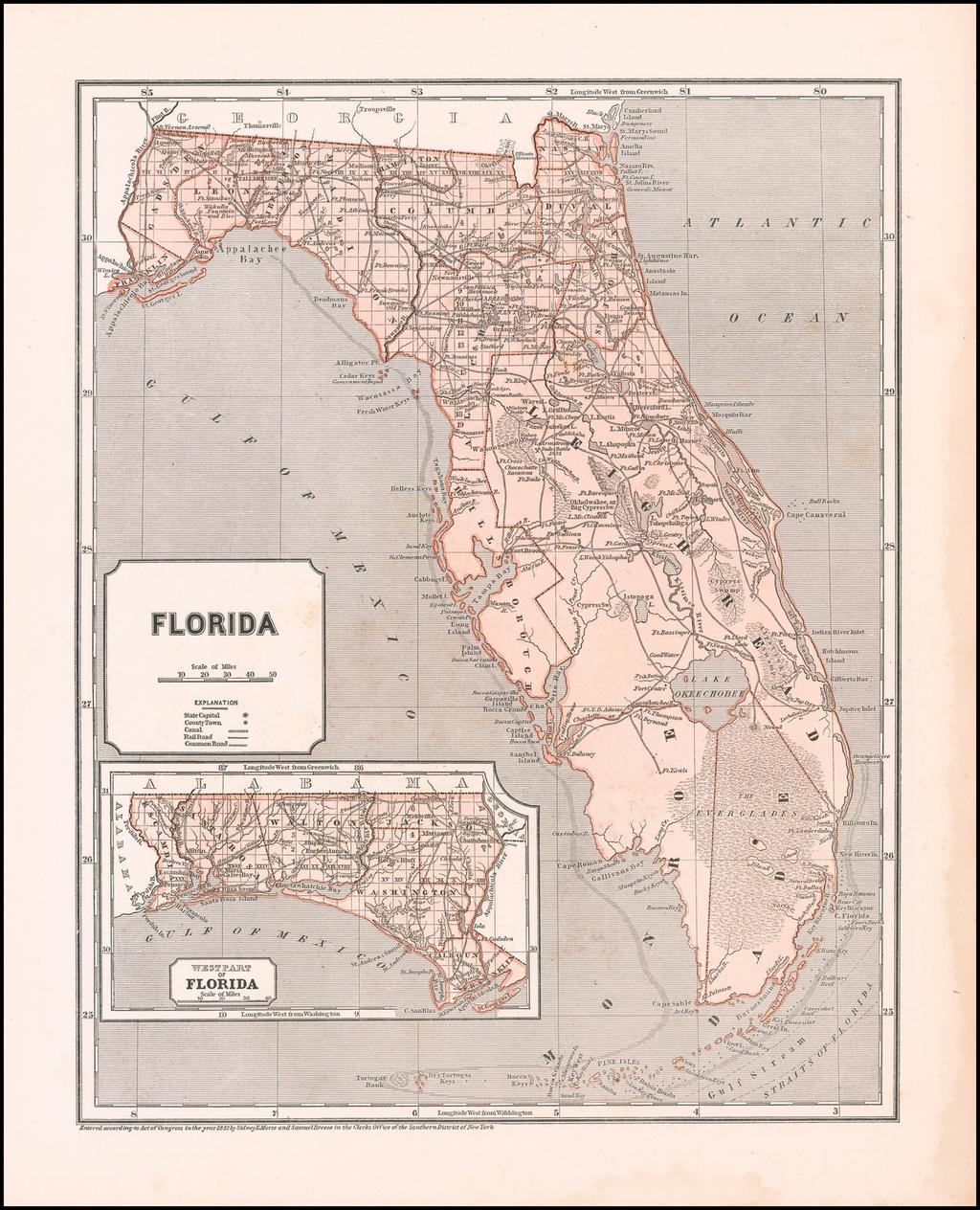 Florida By Sidney Morse  &  Samuel Breese