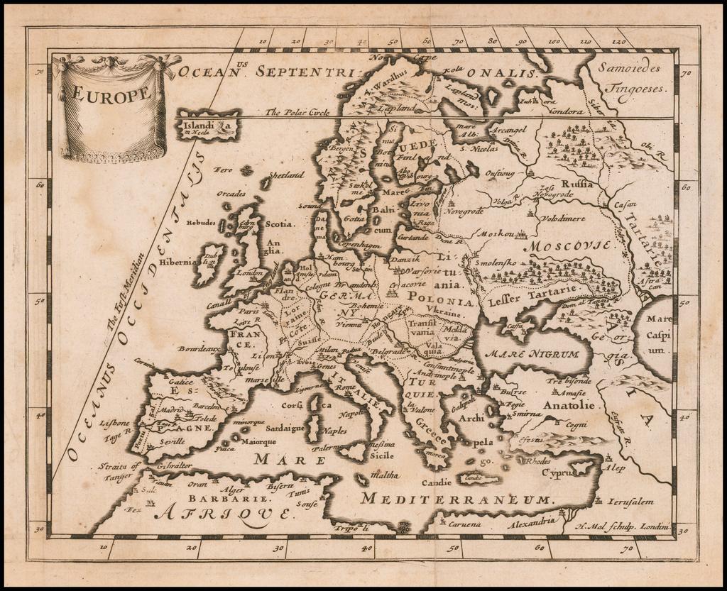 Europe By Sir Jonas Moore