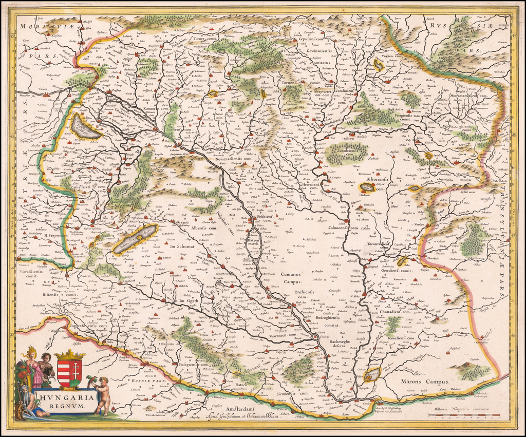 Hungaria Regnum By Willem Janszoon Blaeu  &  Johannes Blaeu