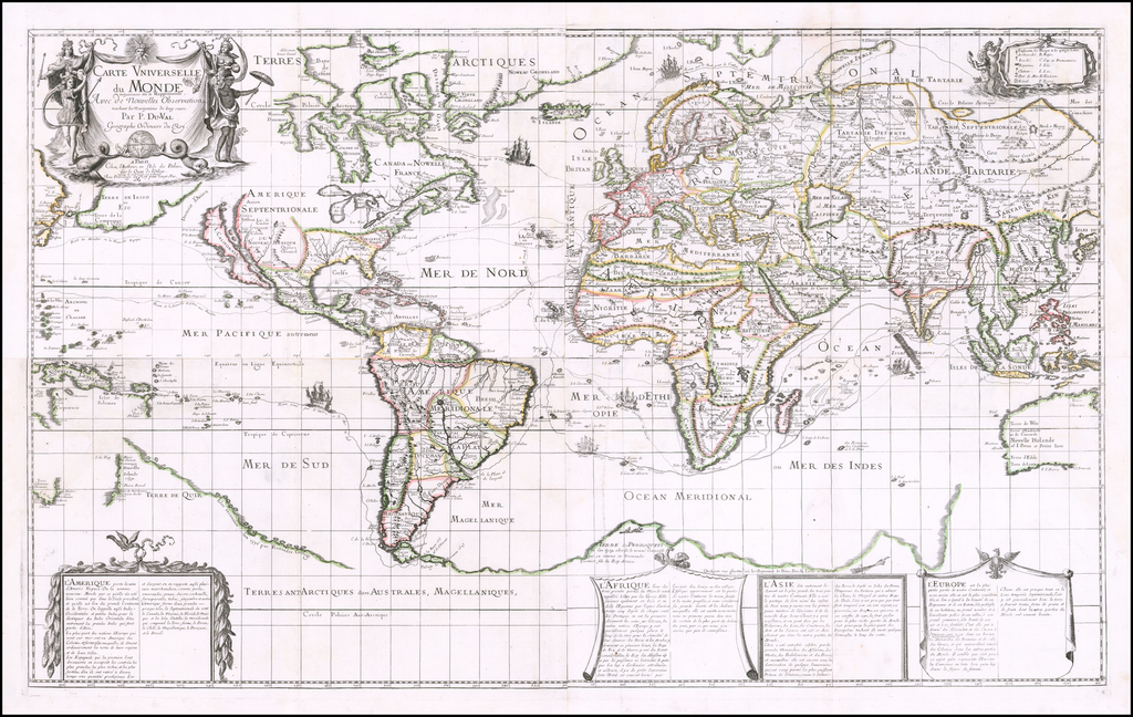 World Map By Pierre Du Val