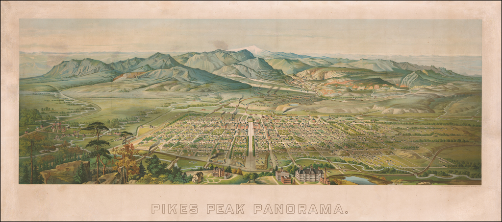 Pikes Peak Panorama By Henry Wellge