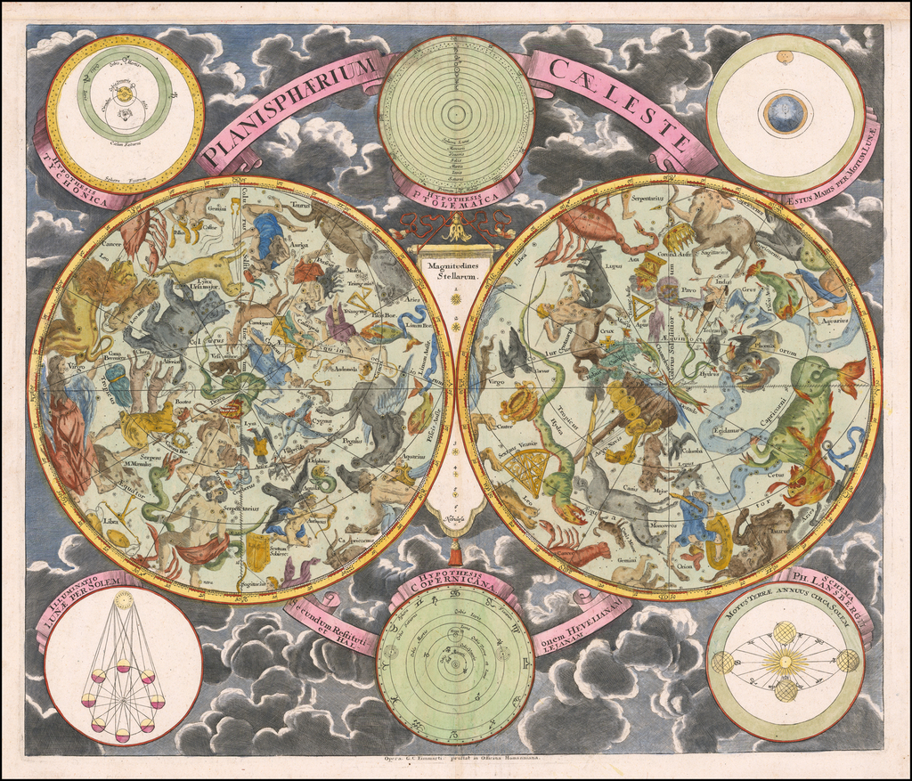 Planispherium Caeleste By Georg Christoph Eimmart