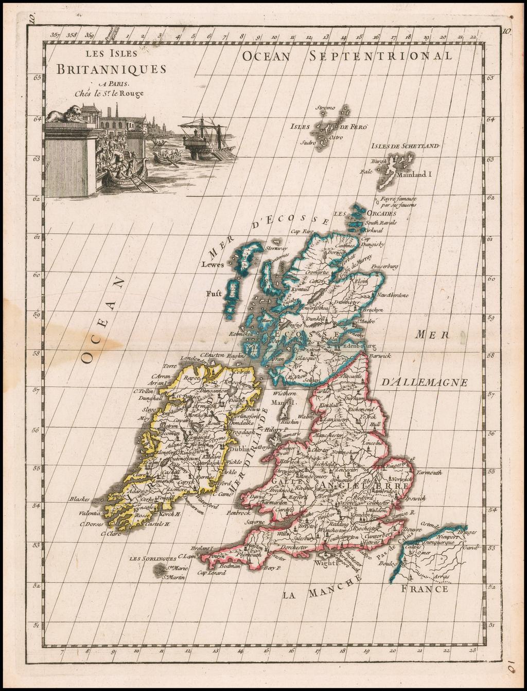Les Isles Britanniques . . . . By George Louis Le Rouge