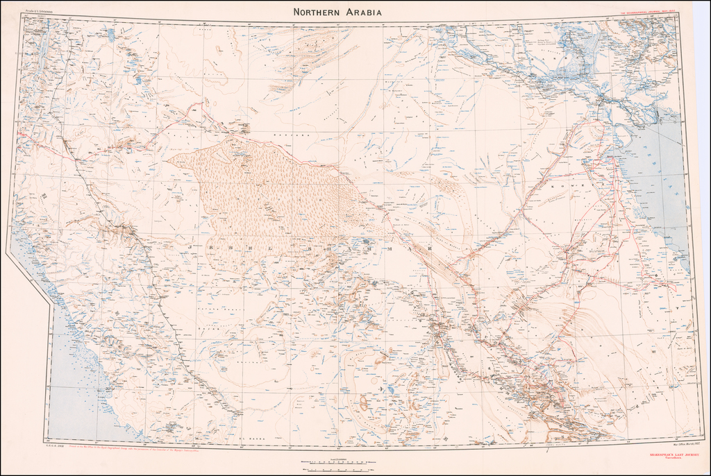 Northern Arabia By Royal Geographical Society