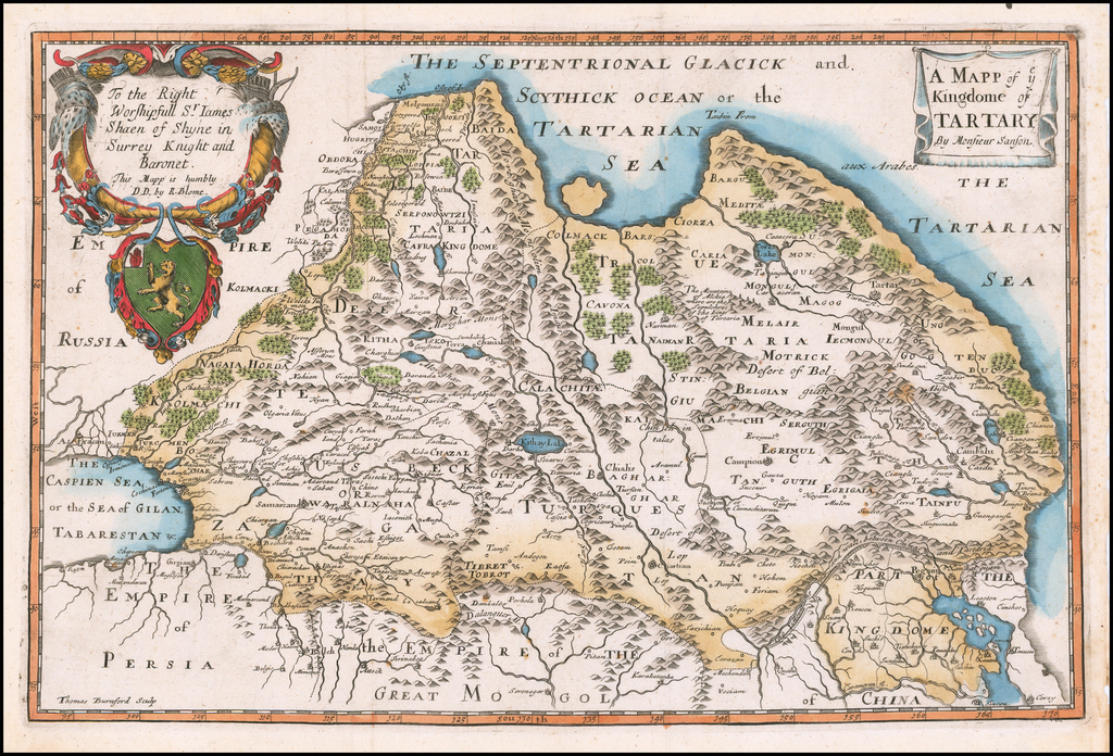 A Mapp of y Kingdome of Tartary . . . By Richard Blome