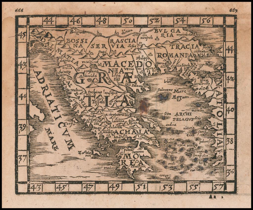 [Greece] and [Eoboea] By Johann Honter