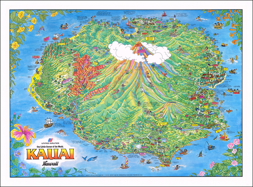 Kauai  Hawaii  (United Airlines) By James Olson