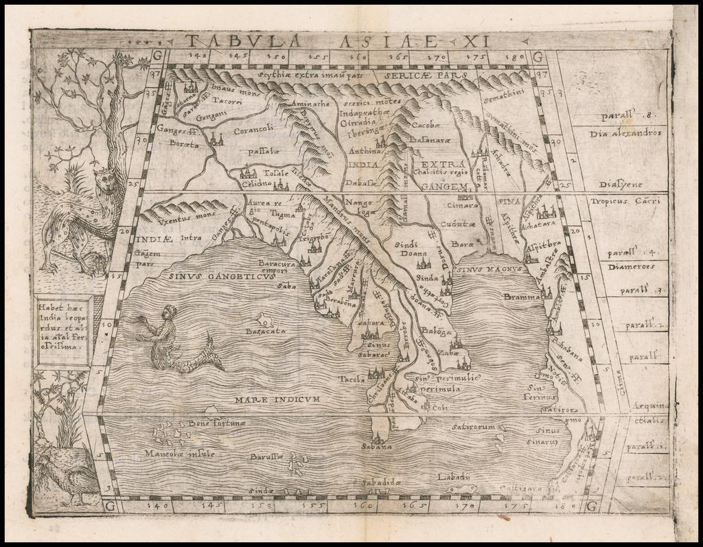 Tabula Asiae XI [Southeast Asia] By Giacomo Gastaldi