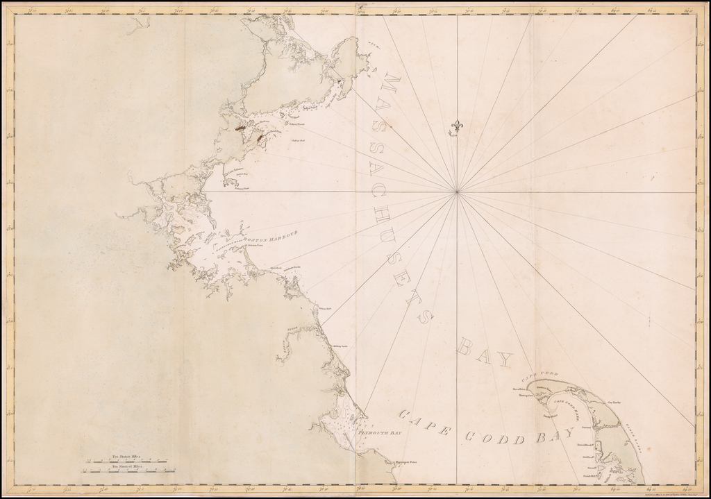 [Massachusetts Bay, with Boston and Part of Cape Cod] By Joseph Frederick Wallet Des Barres