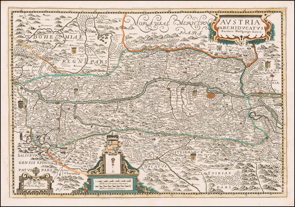Austria Archiducatus Auctore Wolfgango Lazio By Nicolas Berey