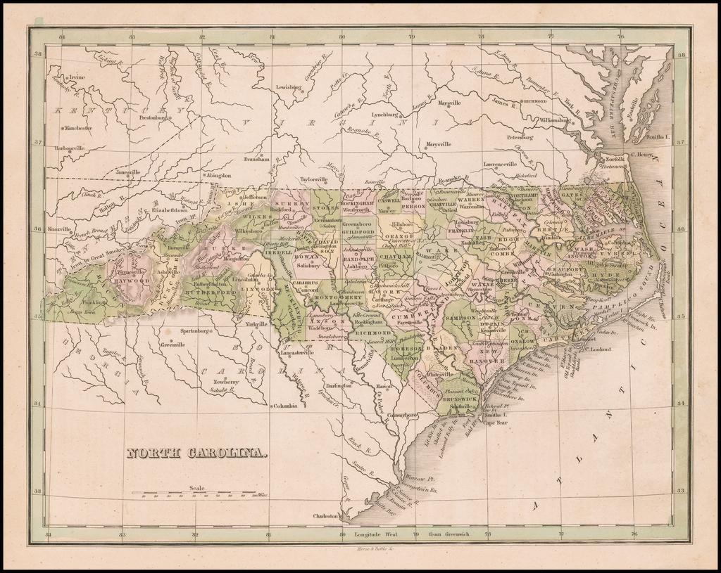 North Carolina By Thomas Gamaliel Bradford