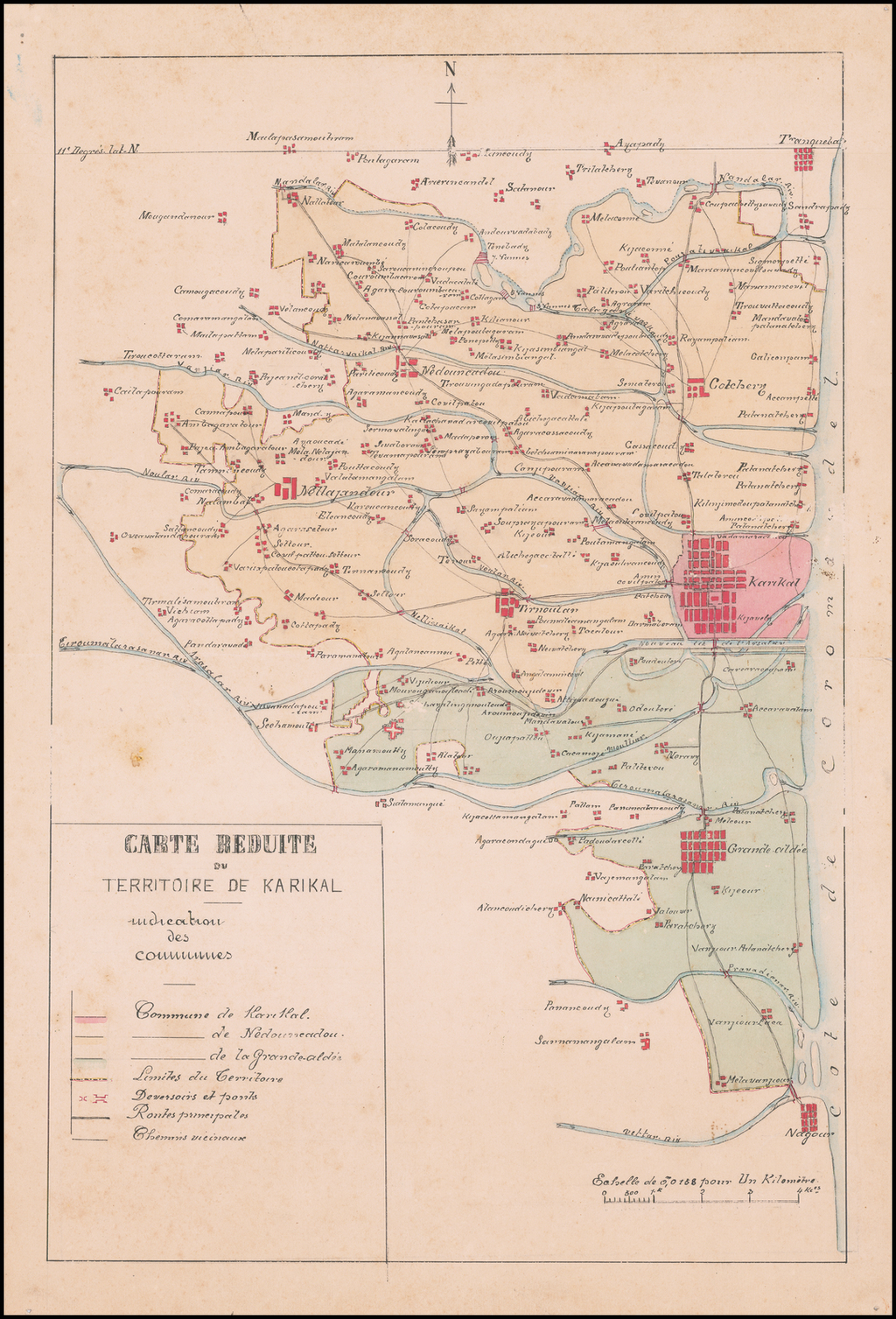 Carte Reduite du Territoire de Karikal By Anonymous
