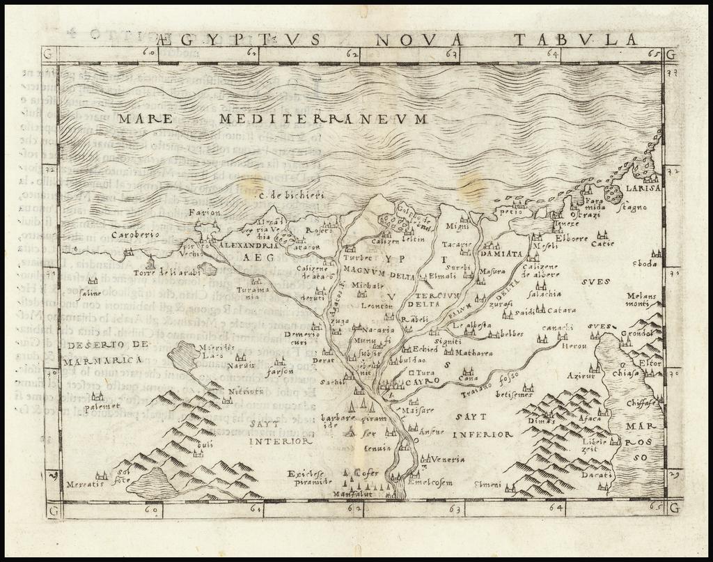 Aegyptus Nova Tabula By Giacomo Gastaldi