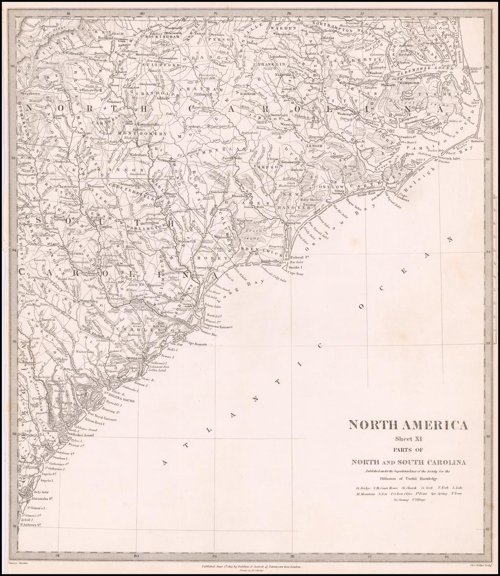 North America Sheet XI Parts of North and South Carolina By SDUK