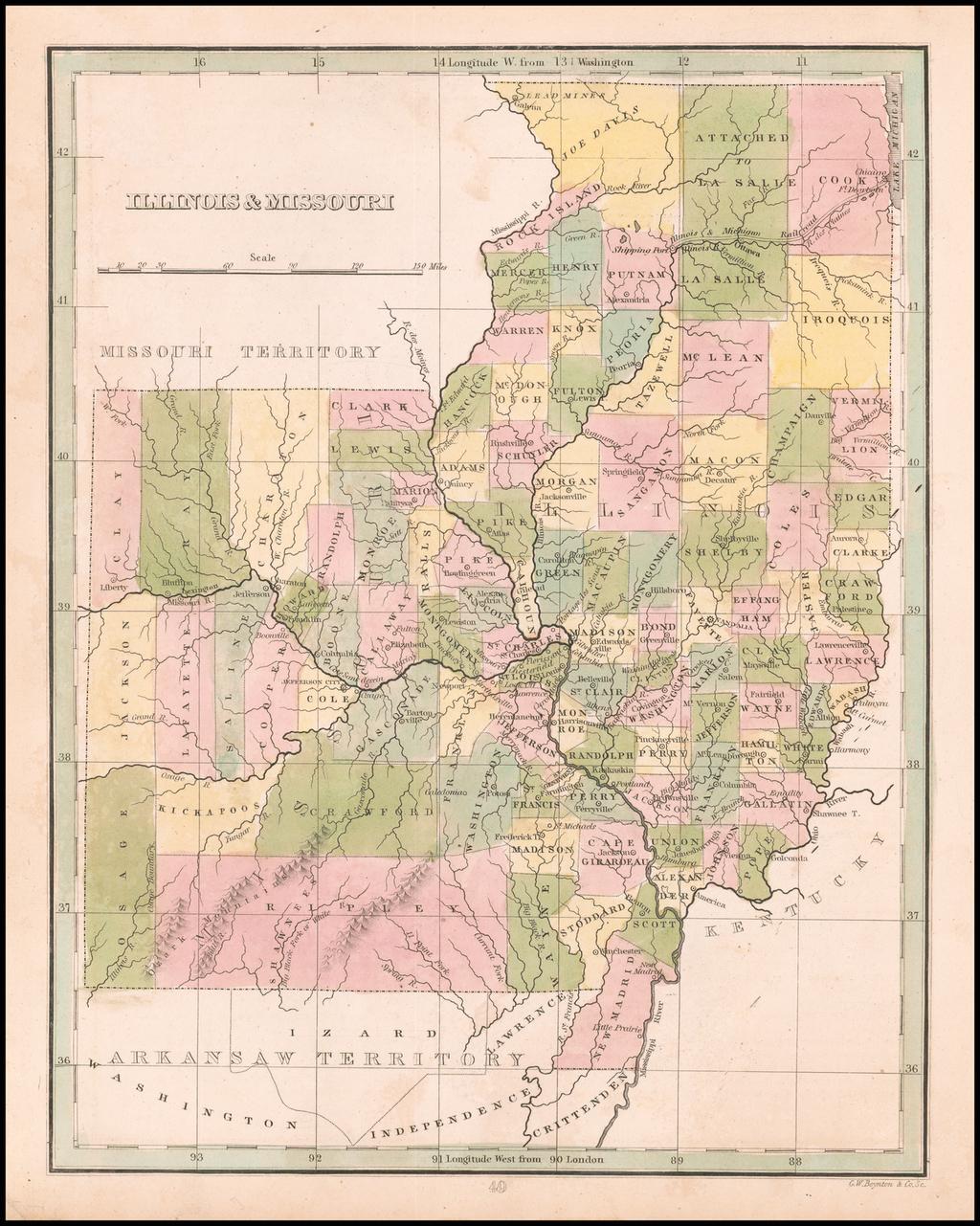 Illinois & Missouri By Thomas Gamaliel Bradford