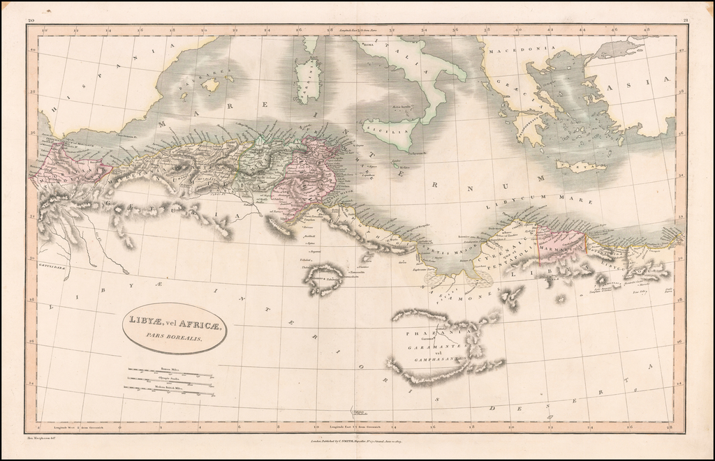 Libyae, vel Africae, Pars Borealis By Charles Smith