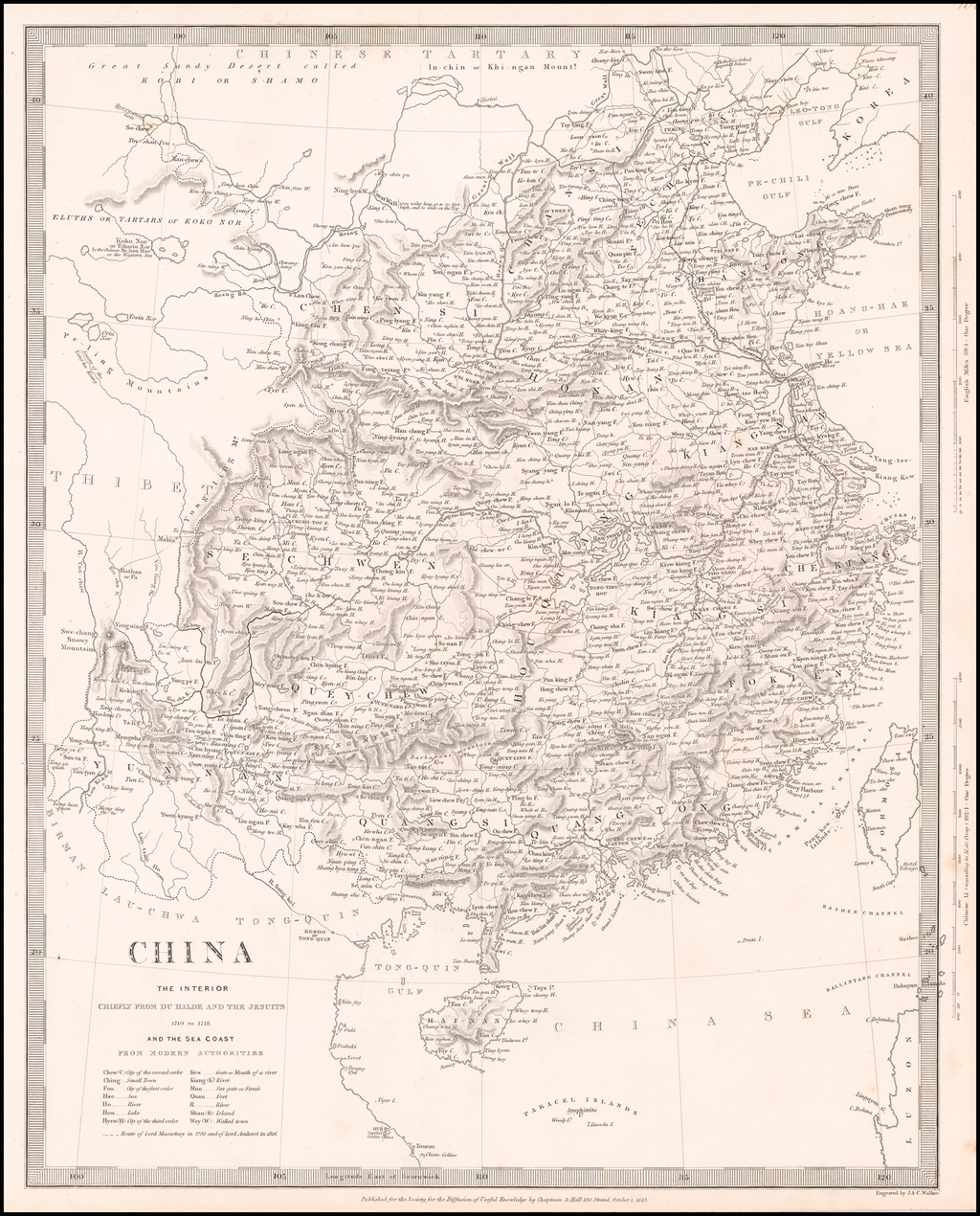 China.  The Interior.  Chiefly From Du Halde and The Jesuits 1710 to 1718 By SDUK
