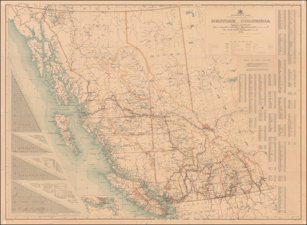 British Columbia . . . 1923 By Department of Lands, Land Records Division