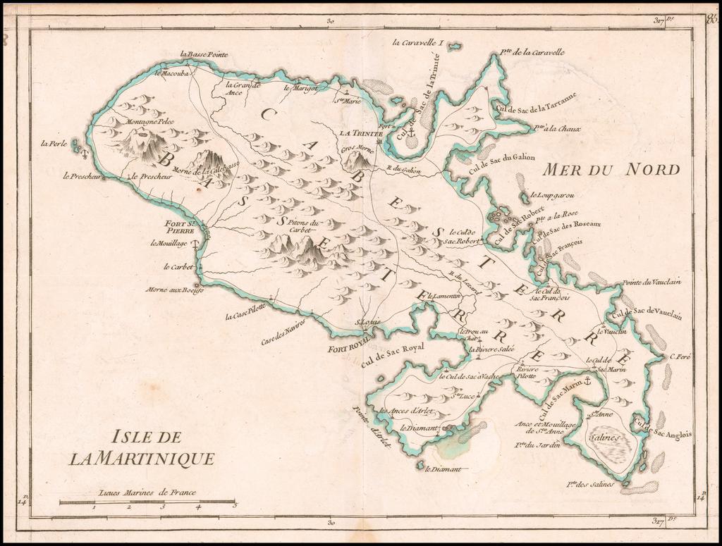 Isle De La Martinique By George Louis Le Rouge