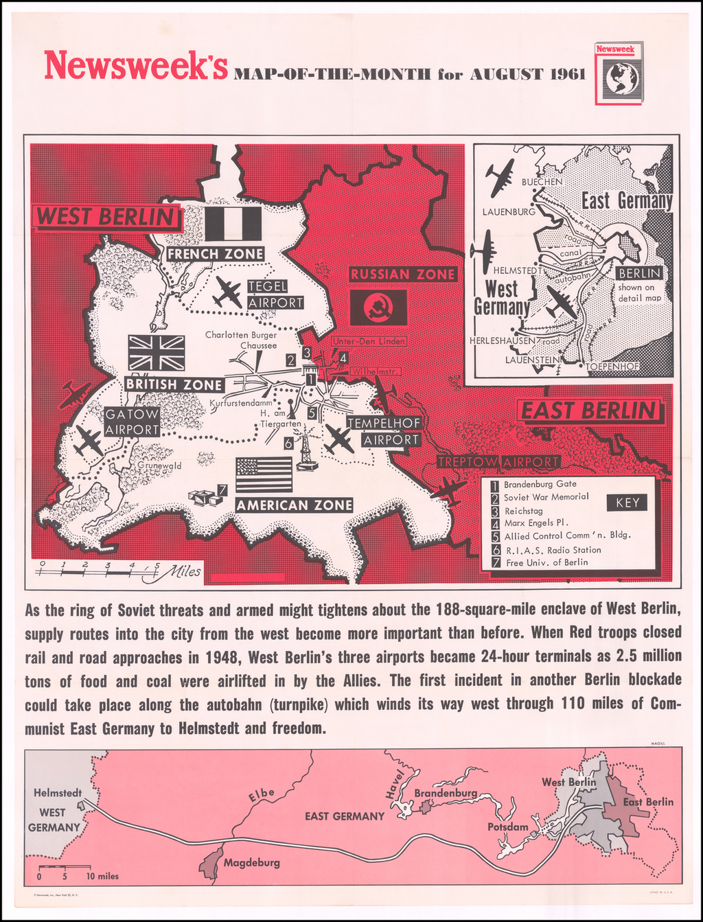 [August 1961: The Berlin Crisis and Foreshadowing Construction of the Berlin Wall]  By Newsweek