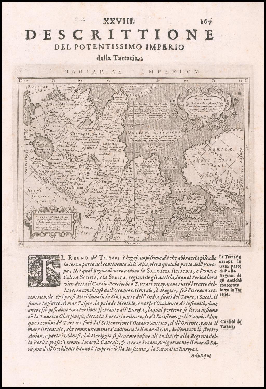 Tartariae Imperium By Giovanni Antonio Magini