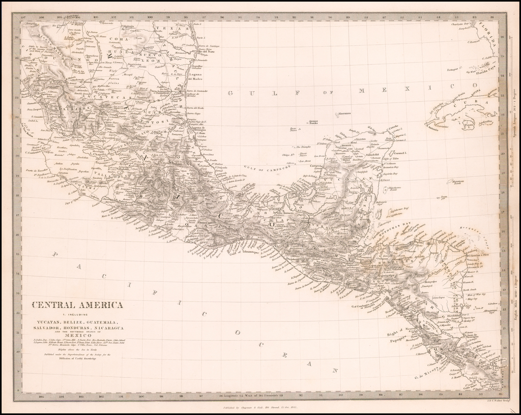 Central America I.  Including Yucatan, Belize, Guatemala, Salvador, Honduras, Nicaragua and the Southern Part of Mexico… By SDUK