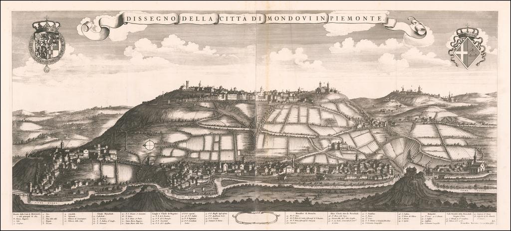 Dissegno Della Citta di Mondovi in Piemonte By Johannes et Cornelis Blaeu