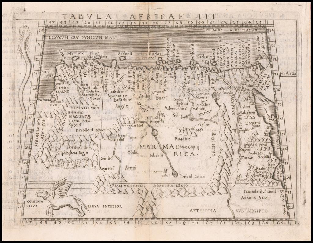 Tabula Africae III By Giacomo Gastaldi