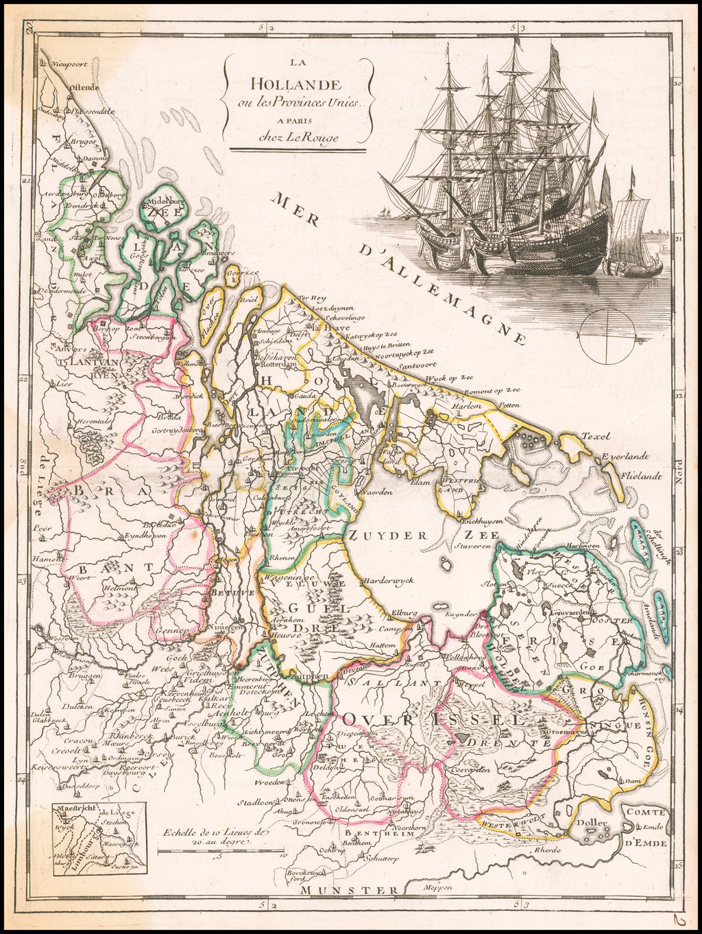 La Hollande ou les Provinces Unies . . .  By Georges Louis Le Rouge