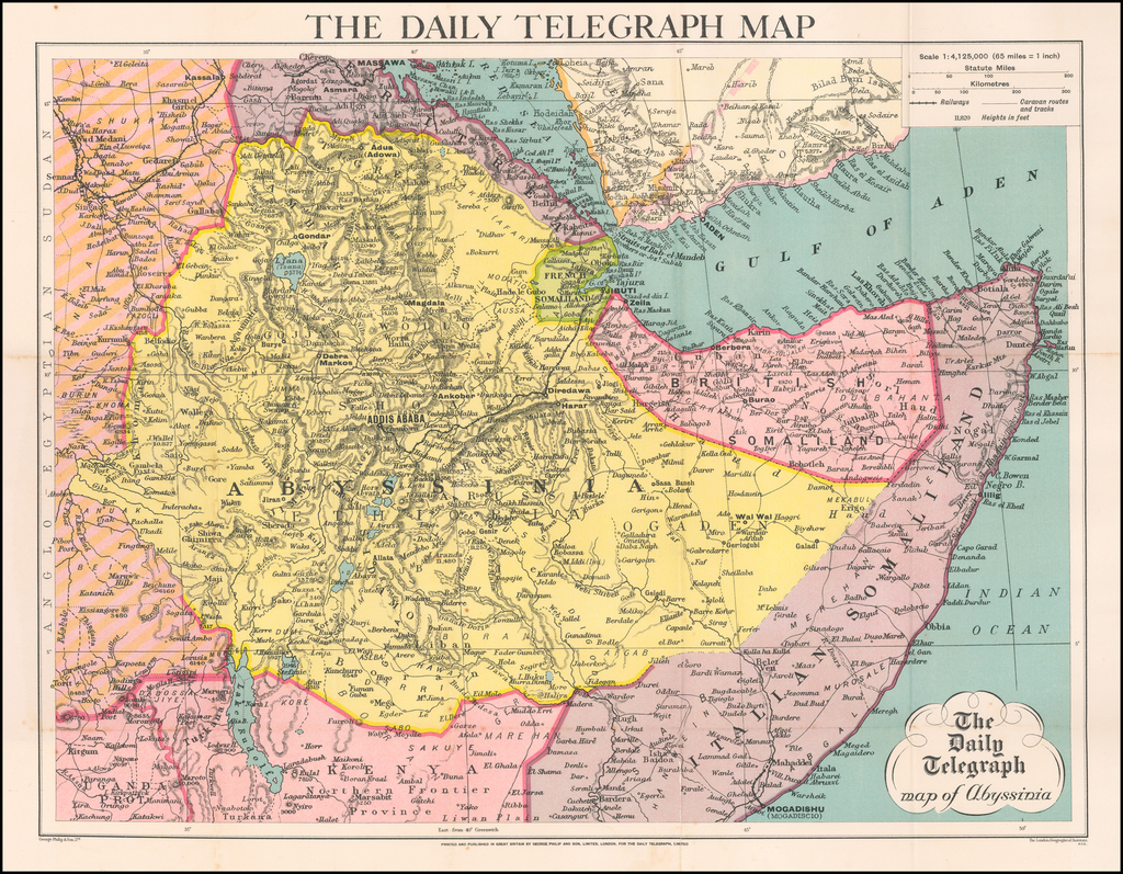 The Daily Telegraph map of Abyssinia By George Philip & Son