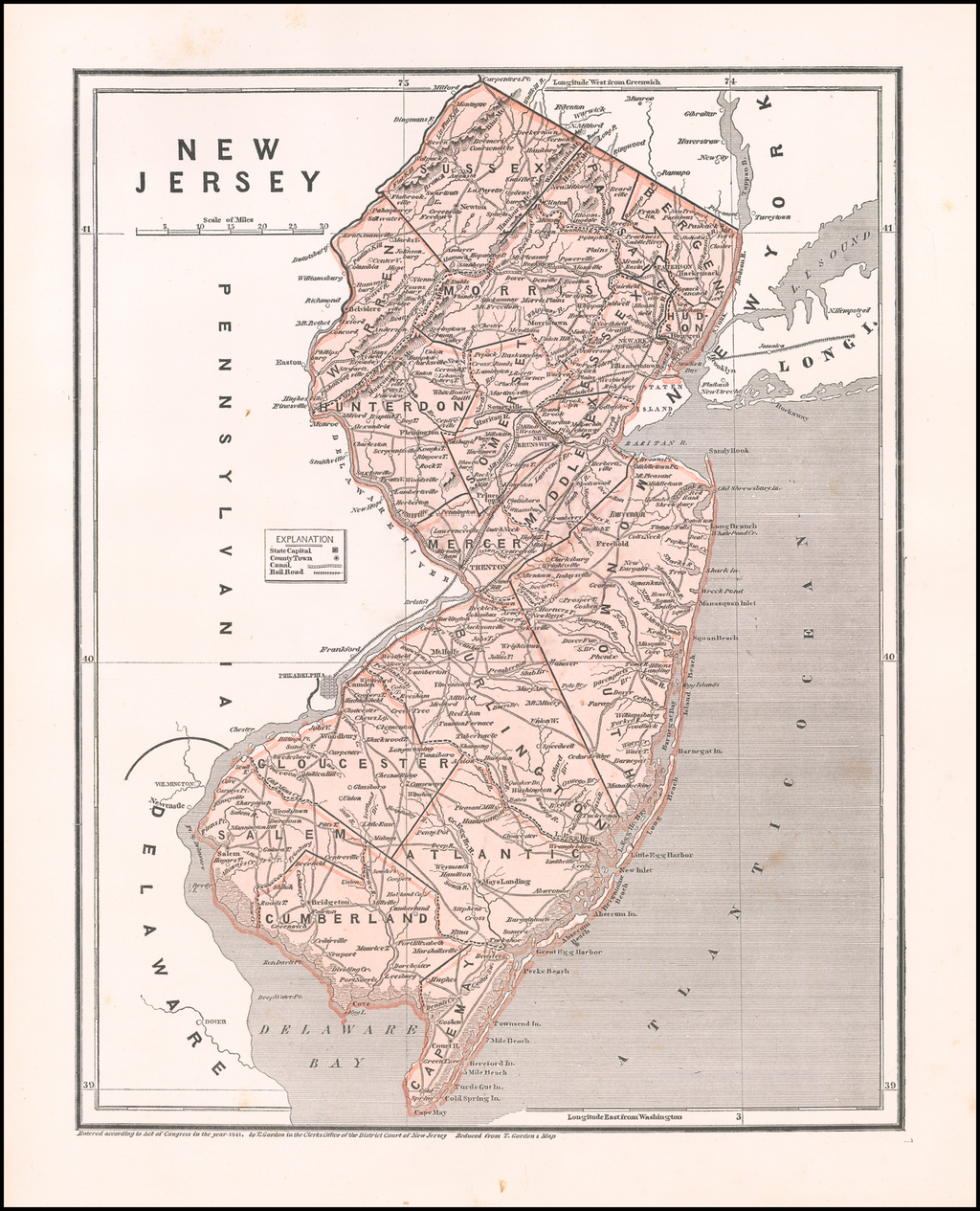 New Jersey By Sidney Morse  &  Samuel Breese